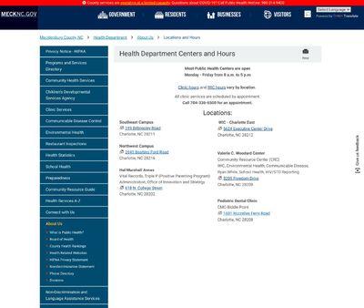 STD Testing at Mecklenburg County Public Health