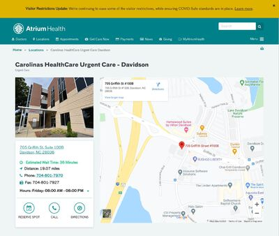 STD Testing at Carolinas HealthCare Urgent Care