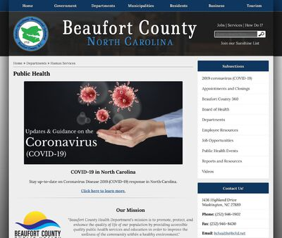 STD Testing at Beaufort County Health Department