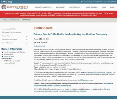 STD Testing at Catawba County Public Health