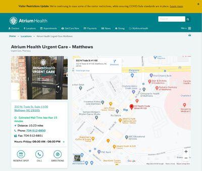 STD Testing at Carolinas HealthCare Urgent Care - Matthews