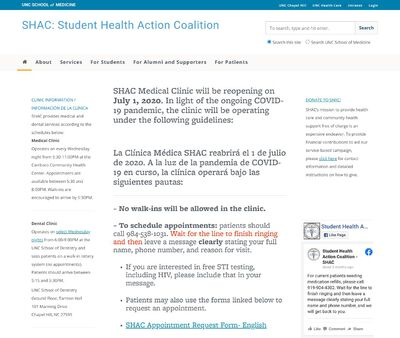 STD Testing at Student Health Action Coalition (SHAC)