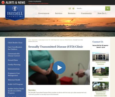 STD Testing at Iredell County Health Department, Mooresville Clinic