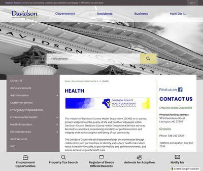 STD Testing at Davidson County Health Department