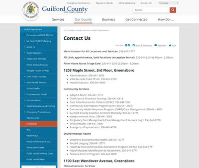 STD Testing at Guilford County Public Health