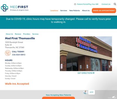 STD Testing at Med First Primary & Urgent Care