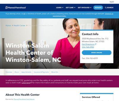 STD Testing at Planned Parenthood - Winston-Salem Health Center