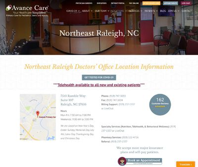 STD Testing at Avance Primary Care - Northeast Raleigh