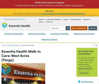 STD Testing at Essential Health Walk-in Care-West Acres (Fargo)