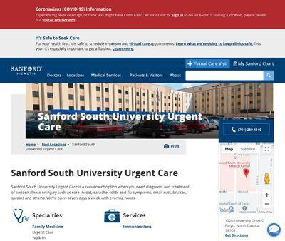 STD Testing at Sanford South University Urgent Care