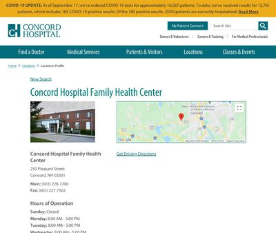 STD Testing at Concord Hospital Family Health Center