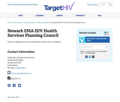STD Testing at Newark EMA HIV Health Services Planning Council