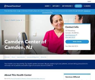 STD Testing at Planned Parenthood of Northern Central and Southern New Jersey, Camden Health Center