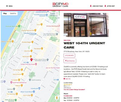 STD Testing at CityMD West 104th Urgent Care – NYC