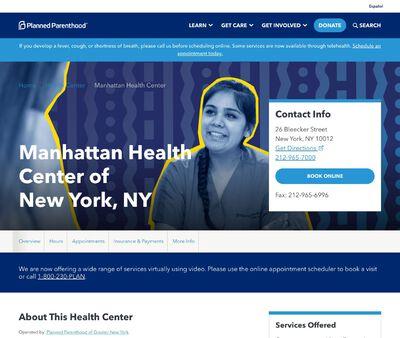 STD Testing at Margaret Sanger Center of New York, NY