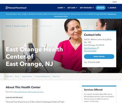 STD Testing at East Orange Health Center of East Orange, NJ