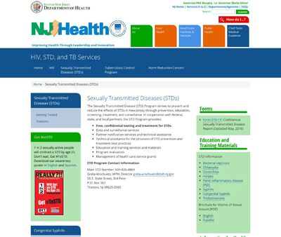 STD Testing at New Jersey Health Department STD Clinic