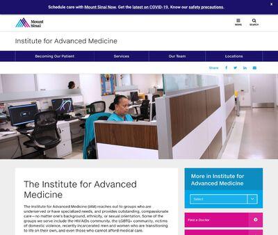 STD Testing at Mount Sinai Roosevelt, Institute for Advanced Medicine
