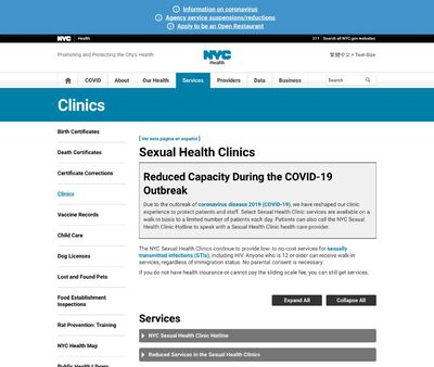 STD Testing at New York City Department of Health and Mental Hygiene, Riverside Sexual Health Clinic