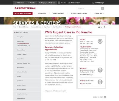 STD Testing at PMG Urgent Care in Rio Rancho