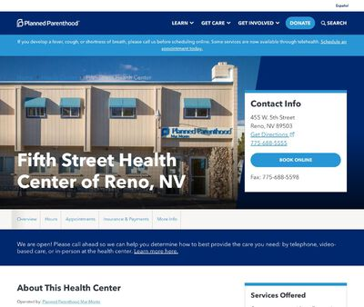 STD Testing at Planned Parenthood – Fifth Street Health Center