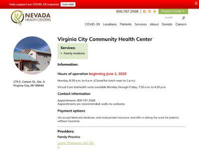 STD Testing at Virginia City Community Health Center