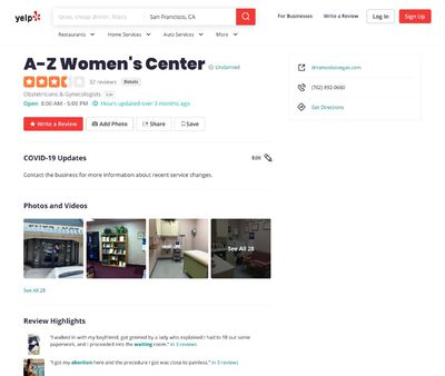 STD Testing at A-Z women's center