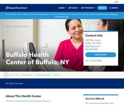 STD Testing at Planned Parenthood of Central and Western New York Incorporated (Buffalo Health Center)