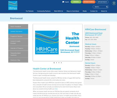 STD Testing at Hudson River Healthcare at The Brentwood Health Center