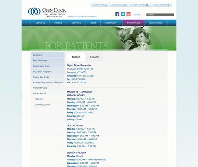 STD Testing at Open Door Family Medical Centers, Open Door Brewster