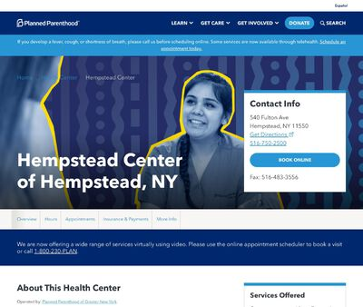 STD Testing at Planned Parenthood – Hempstead Center of Hempstead, NY