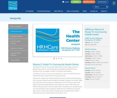 STD Testing at Hudson River HealthCare,Maxine S Postal Tri-Community Health Center