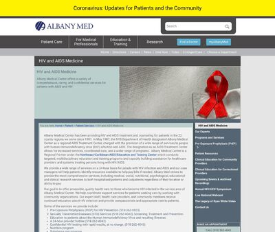 STD Testing at Albany Medical Center, AIDS Treatment Center