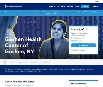 STD Testing at Goshen Health Center ofGoshen, NY