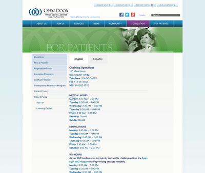 STD Testing at Open Door Family Medical Center: Grabowitz Ellen W MD