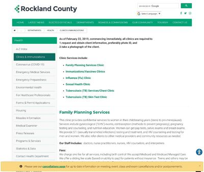 STD Testing at Rockland County Department of Health (Robert L Yeager Heatlh Center)