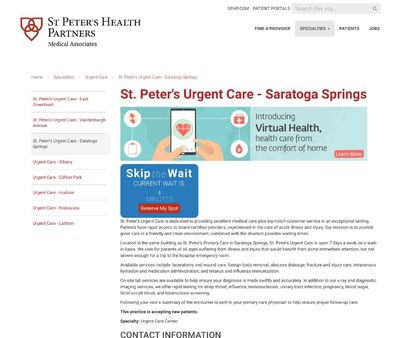 STD Testing at St. Peter's Urgent Care - Saratoga Springs