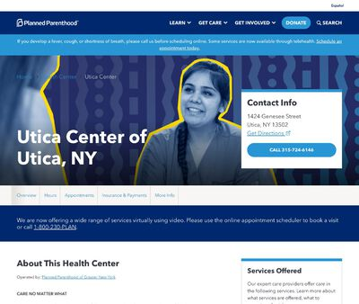 STD Testing at Planned Parenthood Utica Center of Utica, NY