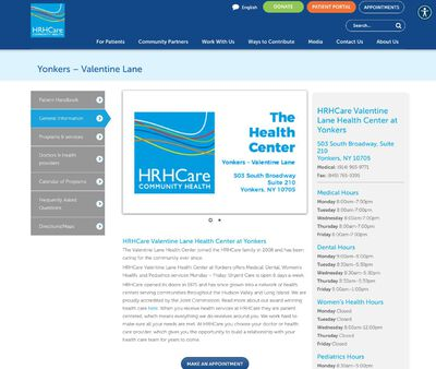 STD Testing at Hudson River HealthCare (Valentine Lane Health Center at Yonkers)