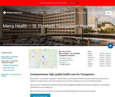 STD Testing at Mercy Health-St. Elizabeth Youngstown Hospital