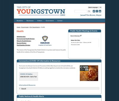 STD Testing at Youngstown City Health District (Nursing Division)