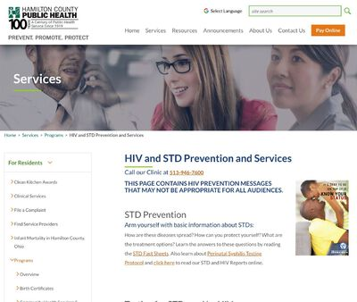STD Testing at Hamilton County Health Clinic