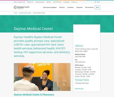 STD Testing at Equitas Health (Dayton Medical Center)