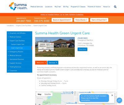 STD Testing at Summa Health Green Urgent Care