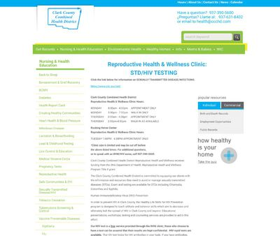 STD Testing at Clark County Health District
