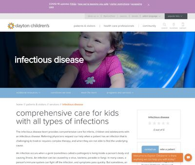 STD Testing at Dayton Children's Hospital (Infectious Disease Department)