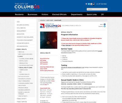 STD Testing at Columbus Public Health