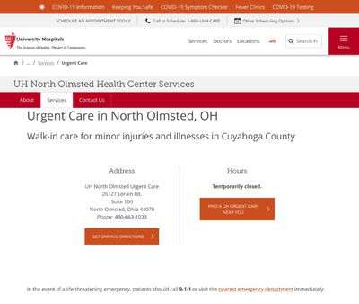 STD Testing at UH North Olmsted Health Center Urgent Care