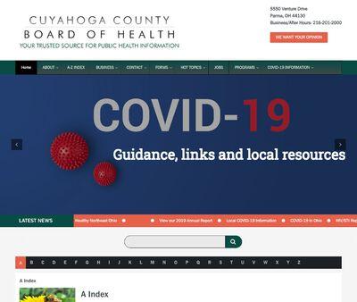 STD Testing at Cuyahoga County Board of Health Main Clinic