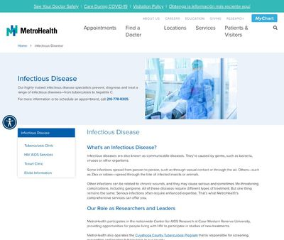 STD Testing at MetroHealth Medical Center Division of Infectious Disease